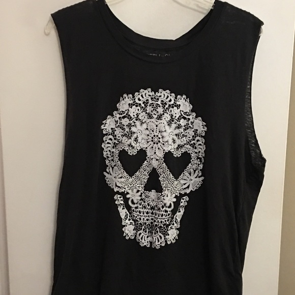 Fifth Sun Tops Black Sugar Skull Tank Top Poshmark